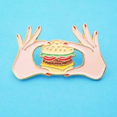BURGER PIN by CoucouSuzette on Etsy https://www.etsy.com/listing/292481731/burger-pin