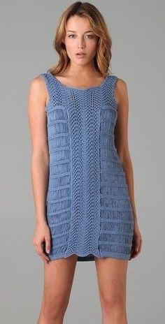 Летнее платье спицами 2