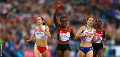 Jo Pavey and Mercy Cherono