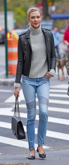 Karlie Kloss casual in NY.