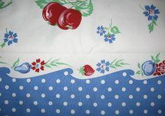 Retro fabric w/cherries
