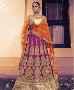 Buy Pleasing Rani Pink Lehenga Choli online at  https://www.a1designerwear.com/pleasing-rani-pink-lehenga-choli  Price: $162.63 USD