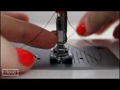 Πώς να ράψεις με διπλή βελόνα - YouTube