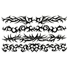 Tribal Band Tattoos by C Visionary. $1.00. In Stock. Chrome. Temporary Tattoo. 4x7. 4 different tribal band designs.