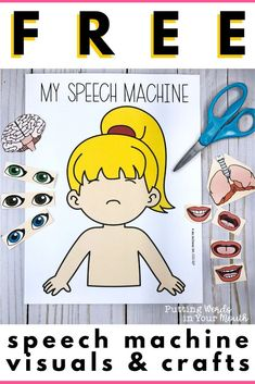 Get this 47 page download FREE! I love using these activities to teach students about their speech mechanism. The teaching visuals can be kept up in your therapy room year 'round to refer to, and the various crafts make it fun for students to make their own speech machine! Sign up for my growing free resource library of speech and language resources, and get access to this & more freebies. #speechmachine #speechhelpers #speechcrafts #speechtherapyactivities #speechtherapyideas #speechlanguage