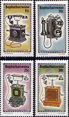 Bophuthatswana 1984 1984 History of the Telephone Set Fine Mint SG Scott 146 9 Other African and British Commonwealth Stamps HERE!
