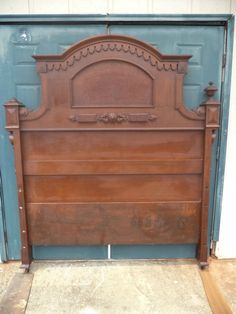 98136a6d8c78b Beautiful Walnut   Burl Victorian Renaissance Revival High Back Bed c1875