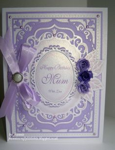 Using Spellbinders Elegant labels Four, Floral Ovals and Bitty Blossoms