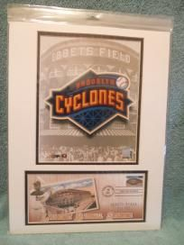 """JACKIE ROBINSON BROOKLYN CYCLONES 1ST DAY ISSUE EBBETS FIELD DISPLAY """"FREE SHIPPING"""""""
