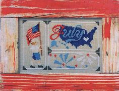 Pine Mountain Design presents us with the month of July in their Snapshot series. Fireworks, flags, and patriotic colors fill this sweet country design, demonstrating the patriotic heart of America!