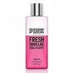Victorias Secret Pink Fresh Vanillas Feel Flirty Body Mist >>> Check out the image by visiting the link. Vanilla Perfume, Victoria Secret Fragrances, Body Mist, Body Spray, Victoria's Secret Pink, Mists, Hair Beauty, Fresh, Sprays
