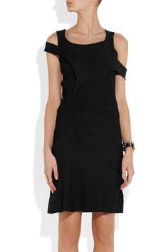 Junya Watanabe|Asymmetric crepe-jersey dress|NET-A-PORTER.COM