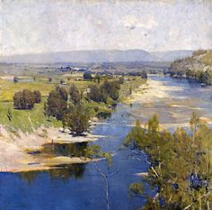 Arthur Streeton - Australian - landscape painter and leading member of the Heidelberg School, also known as Australian Impressionism (Sir Arthur Ernest Streeton) Australian Painting, Australian Artists, Landscape Art, Landscape Paintings, Landscapes, Google Art Project, Mary Cassatt, Mountain Paintings, Impressionist Paintings