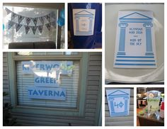 greek party decorations | were so easy to make (and cheap too!!) I made all of the decorations ...