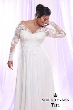 Plus size wedding gown White collection  (14)