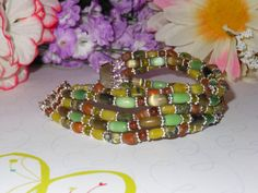 Shades of Green Bracelet by OurBeadedCharms on Etsy, $9.50