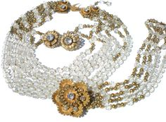 Josef Morton Parure Necklace Bracelet and Clip by RibbonsEdge