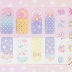 KawaiiBox.com ❤ The Cutest Subscription Box  — ocd-queen:   SANRIO Little Twin Stars Nail...
