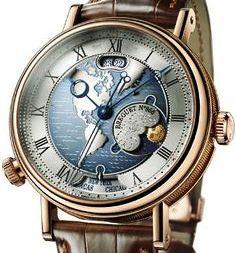 Breguet Classique Hora Mundi Men's Rose Gold Automatic Dual Time Zone