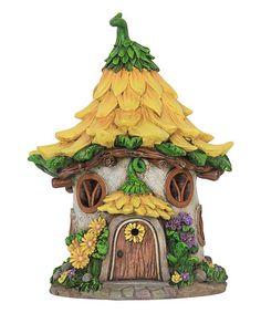 Love this Solar Sunflower House Garden Figurine on #zulily! #zulilyfinds