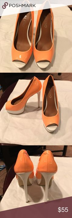 Beautiful heels!!! Worn one time for an hour If that, I have no balance!!!! Aldo Shoes Heels