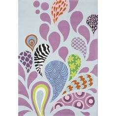 toddler room rug... maybe paint this on the wall, but in her colors