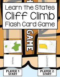Kids will have fun learning the U.S. states with this Cliff Climb Flash Card Game. Everything needed to play including flash cards, game board, pieces, and more are included.