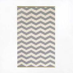 Zigzag Wool Rug - Platinum | west elm 3x5'