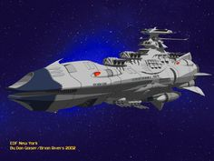 The EDF New York. Original design by Brian Rivers. Based on the Star Blazers animation series.