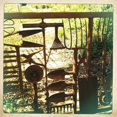 Gate made from old garden tools | Flickr