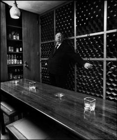 Alfred Hitchcock was photographed by Magnum photographers throughout his career, and the portraits by Philippe Halsman are amongst the most iconic in film history. ...