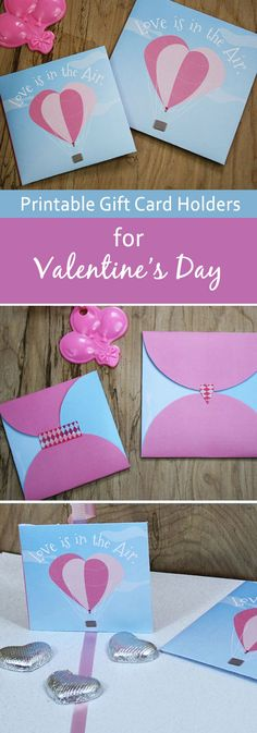 Use this free printable gift card holder as a balloon weight. It's the perfect way to make that gift card more romantic on Valentine's Day. Print it on any size paper for balloon weights and gift card holders of any size.