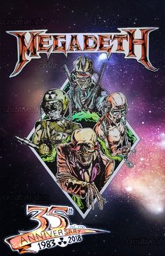 Megadeth Poster by Nickrock7599 on CreativeAllies.com Vic Rattlehead, Rock Band Logos, Heavy Metal Rock, Glam Metal, Metal Albums, Music Album Covers, Thrash Metal, Greatest Songs, Metalhead