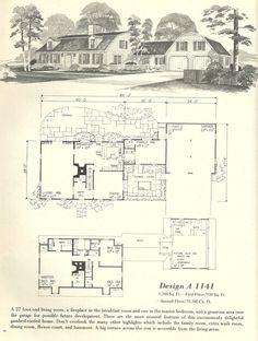 Vintage house plans  gambrel roof  s   VinTagE HOUSE PlanS    Vintage House Plans  vintage homes  floor plans  s
