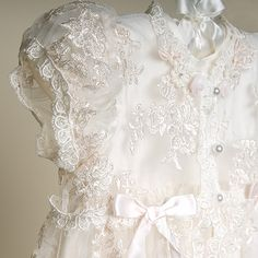 Penelope Heirloom Lace Christening Gown Sleeve