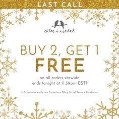 Shop Laura Rodriguez's Boutique for Chloe + Isabel jewelry in Lumberton, NJ . Holiday Gift Guide, Holiday Gifts, Ashley Miller, Chloe Isabel, Sale Poster, Last Call, Boutique, Free, Jewelry