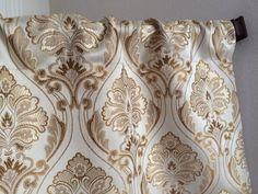 Gold Damask Valance Tan Damask Window Valance by CleusaSordiDecor
