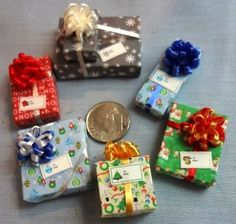 Six Assorted Miniature Christmas Packages set 69. $6.95, via Etsy.