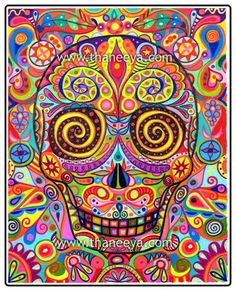 Day of the Dead artwork is not meant to be scary. Just the opposite - this artwork is meant to celebrate the spirit and honor the memory of those who have passed.     Read more: http://www.art-is-fun.com/day-of-the-dead-art.html#ixzz1sPmRjuLr