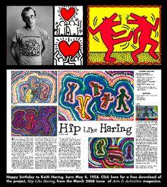 Happy birthday to Keith Haring, born May 4, 1958.