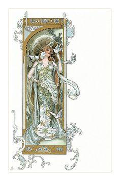 Art nouveau postcard by Eva Daniell