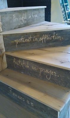 would love to do something like this on the front porch steps