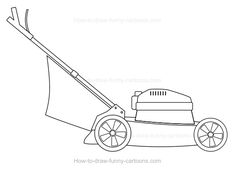 Clipart Black And White Man On A Riding Lawn Mower