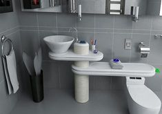 """The """"Eco Bath"""" toilet uses 50% reused water and 50% new water. Reduces your water bill and very clever! 