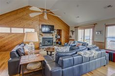 Wonderful great room remodel at this oceanfront remodel in Southern Shore, NC Great Rooms, Custom Homes, Southern, Couch, Furniture, Home Decor, Settee, Sofa, Couches