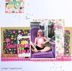 Summertime scrapbook layout by Sara (@sara.scraps) using our gorgeous August 2020 Kit ✂💯✂  Did you know? Monthly Club Members get 10% Off when combined with your regular kit shipment. Isn't that awesome?!💝  ⁣⁣⁣#scrapbookingstore #summerfun #scrapbooklayout #scrapbookingkits #papercraft #scrapbooking