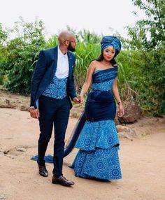 modern shweshwe dresses 2019 By Diyanu - African Plus Size Clothing at D'IYANU African Prom Dresses, Latest African Fashion Dresses, African Dresses For Women, African Print Fashion, African Clothes, African Prints, African Print Wedding Dress, African Wedding Attire, African Attire