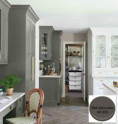 10 Timeless Grays for the Kitchen-Designer/ Caitlin Wilson. Color/ Benjamin Moore-Silhouette