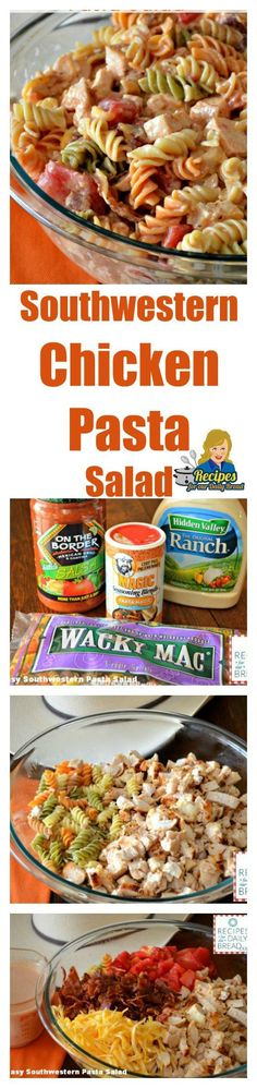 Southwestern Chicken Pasta Salad - Recipes For Our Daily...