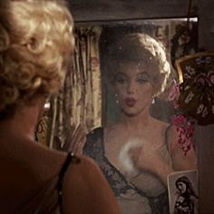 misspennydreadful:  Marilyn Monroe as Elsie Marina, putting on plenty of makeup in The Prince And The Showgirl (5) Tumblr on We Heart It.